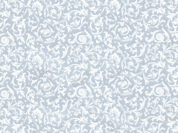 "Silver Florentine 24"" x 833' Full Ream Roll Gift Wrap"