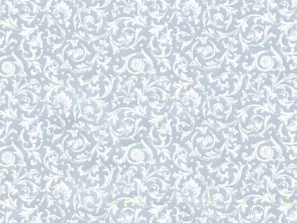"Silver Florentine 24"" x 417' Half Ream Roll Gift Wrap"