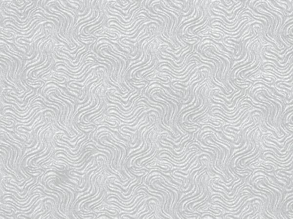 "White Embossed Swirl  24"" x 417' Half Ream Roll Gift Wrap"