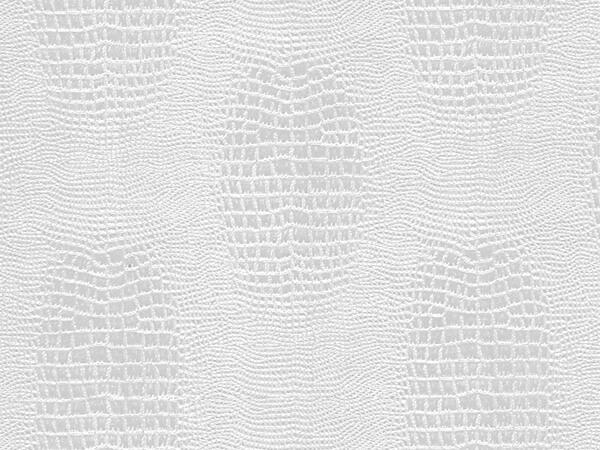 "White Embossed Alligator 24"" x 417' Half Ream Roll Gift Wrap"