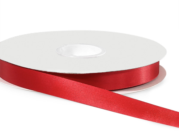 "Scarlet Satin Acetate Ribbon 9/16""x100 yds"