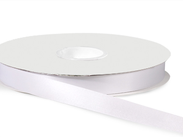 "White Satin Acetate Ribbon, 9/16""x100 yards"