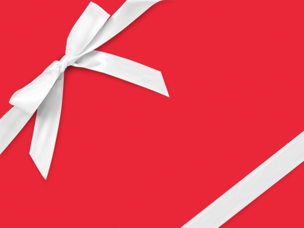 "Rouge Red  26"" x 417' Half Ream Roll Gift Wrap"
