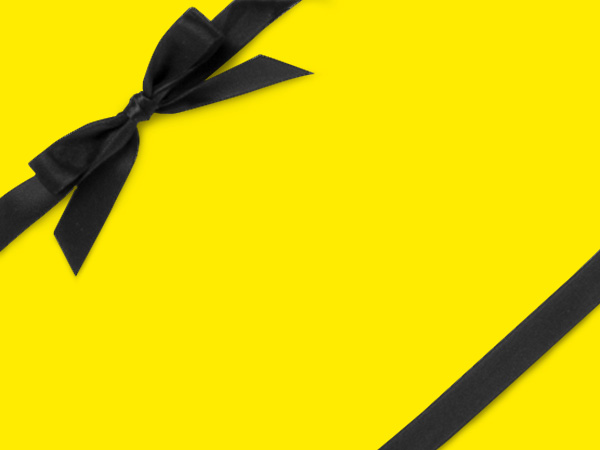 """Canary  18"""" x 833' Full Ream Roll Gift Wrap"""