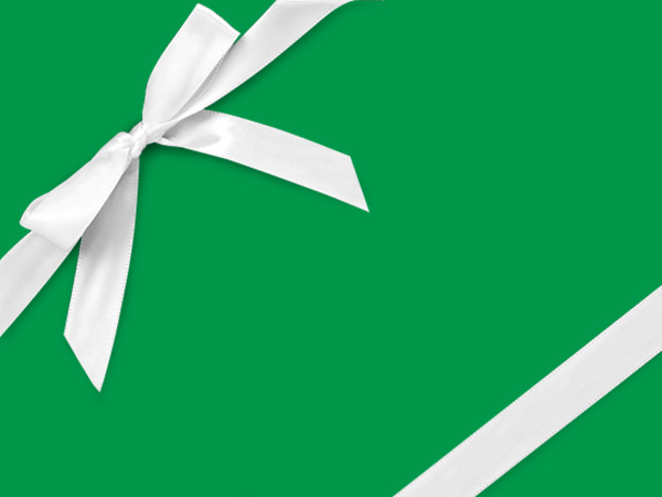 """Dark Green Gift Wrapping Paper 24"""" x 417', Half Ream Roll"""