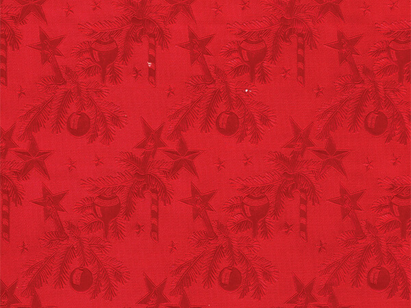 "Red Embossed Christmas 26""x417' Half Ream Gift Wrap (Foil)"