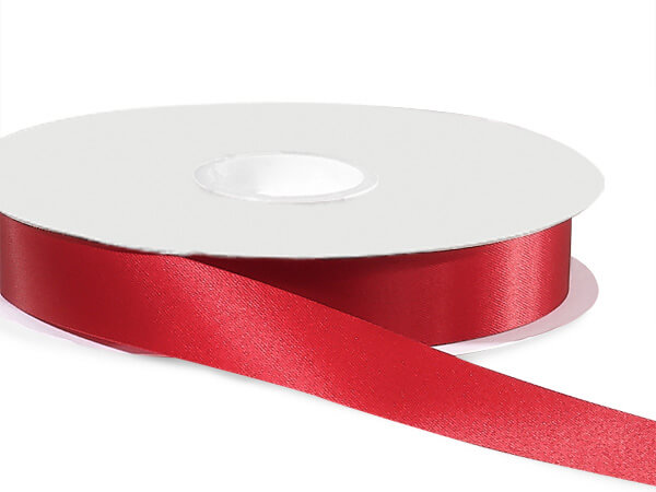 "Scarlet Satin Acetate Ribbon 7/8""x100 yds"