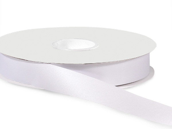 "White Satin Acetate Ribbon 7/8""x100 yds"
