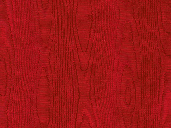 """Red Embossed Moire 18"""" x 417' Half Ream Gift Wrap (Foil)"""
