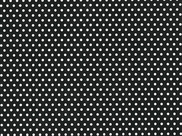 "Black and White Polka Dot 30""x833' Full Ream Roll Gift Wrap"