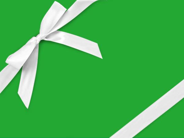 "Flourescent Green 30"" x 833' Full Ream Roll Gift Wrap"
