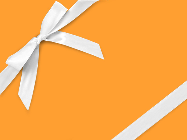 "Flourescent Yellow 26"" x 417' Half Ream Roll Gift Wrap"