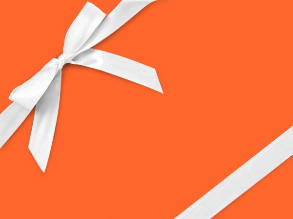"Fluorescent Orange Wrapping Paper 26"" x 417', Half Ream Roll"