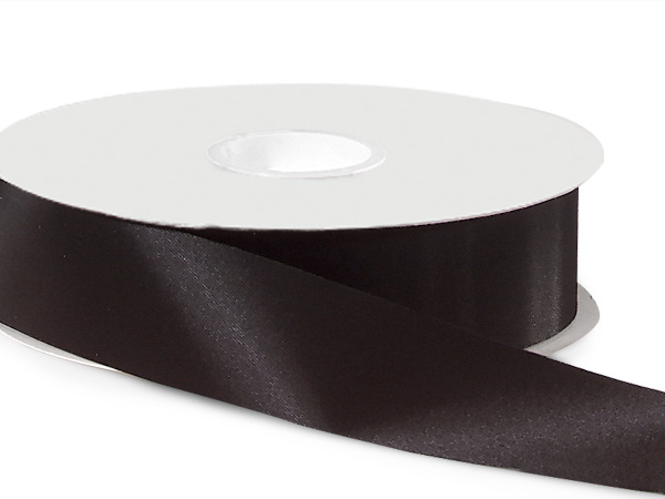 "Black Satin Acetate Ribbon 1-5/16""x100 yds"
