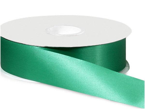 "Emerald Green Satin Acetate Ribbon, 1-5/16""x100 yards"