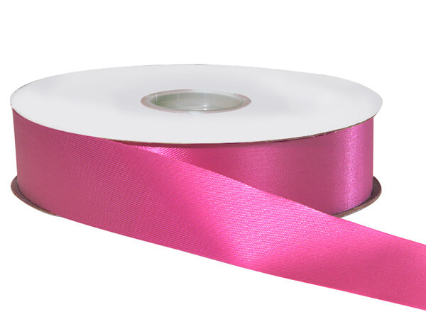 "Hot Pink Satin Acetate Ribbon, 1-5/16""x100 yards"
