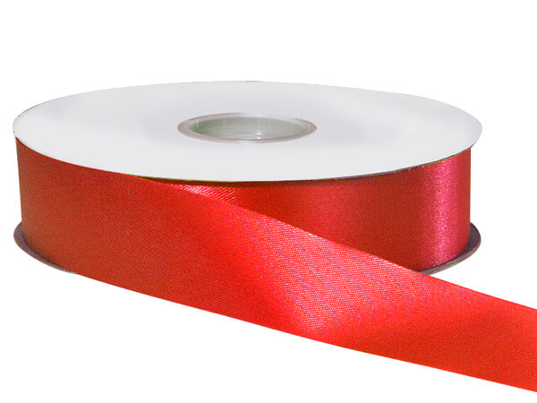 "Hot Red Satin Acetate Ribbon 1-5/16""x100 yds"