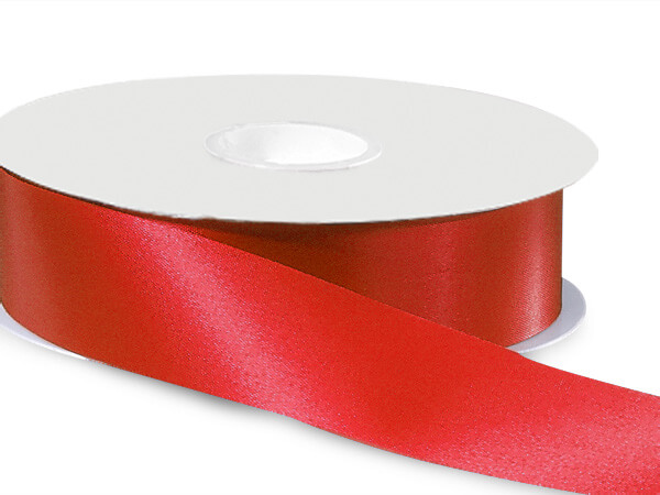 "Scarlet Red Satin Acetate Ribbon, 1-5/16""x100 yards"