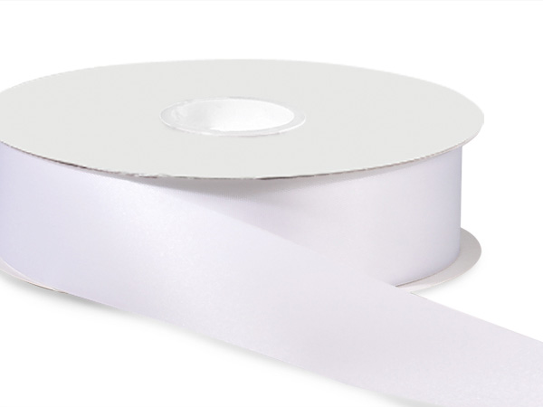 "White Satin Acetate Ribbon, 1-5/16""x100 yards"