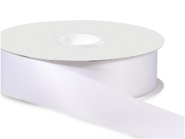 """White Satin Acetate Ribbon 1-5/16""""x100 yds"""