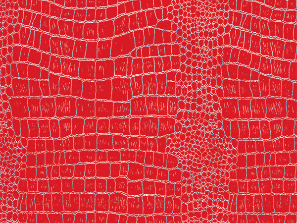 "Red and Silver Crocodile 30"" x 417' Half Ream Gift Wrap (Foil)"