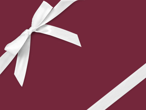 """Maroon Wrapping Paper 24"""" x 417', Half Ream Roll"""