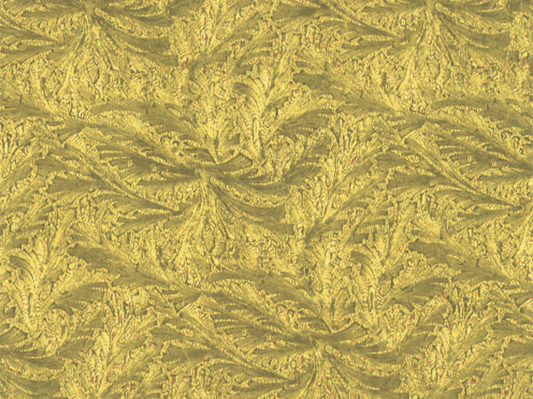 "Gold Embossed Feather 24"" x 417' Half Ream Gift Wrap (Foil)"