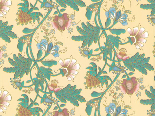 """Trailing Floral  18"""" x 417' Half Ream Roll Gift Wrap"""