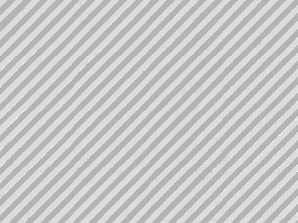 """Silver Embossed Stripe 30""""x833' Full Ream Gift Wrap (Foil)"""