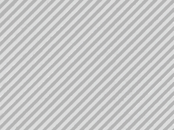 "Silver Embossed Stripe 30""x417' Half Ream Gift Wrap (Foil)"