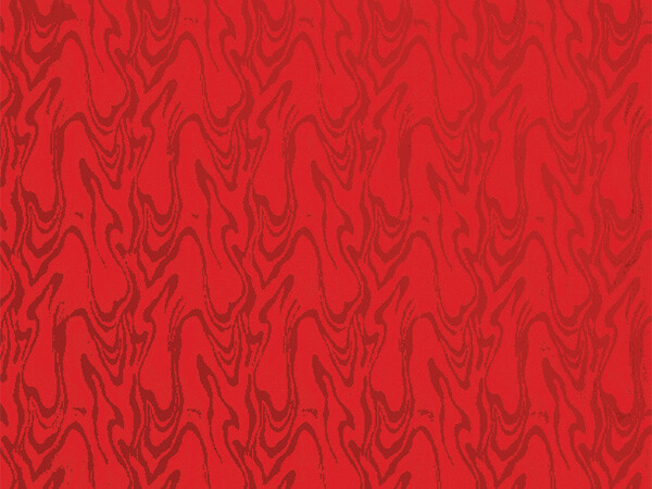 "Red Embossed Swirl 18"" x 833' Full Ream Gift Wrap (Foil)"