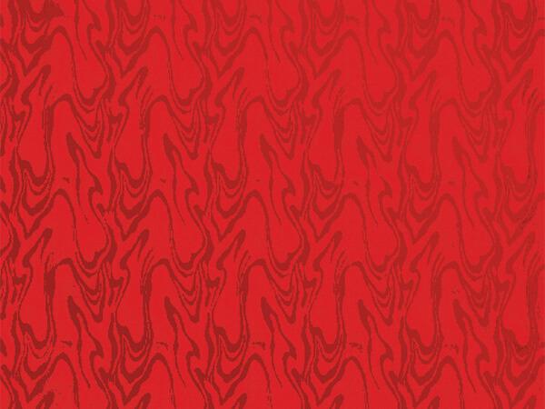 "Red Embossed Swirl 26"" x 417' Half Ream Gift Wrap (Foil)"