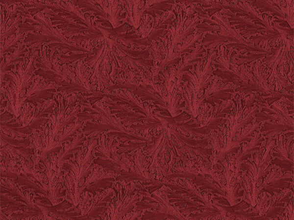 "Burgundy Embossed Feather 30""x417' Half Ream Gift Wrap (Foil)"