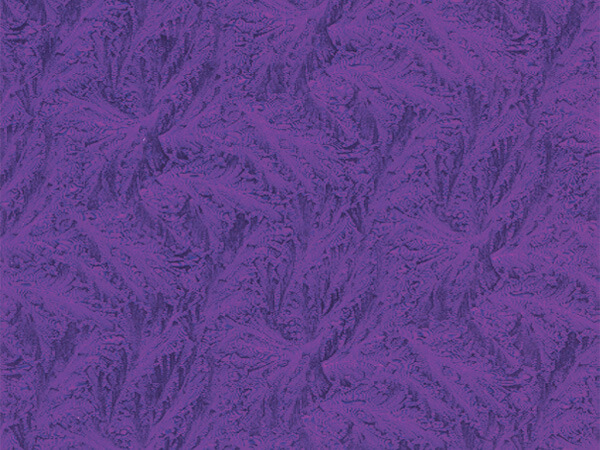 "Purple Embossed Feather 24"" x 833' Full Ream Gift Wrap (Foil)"