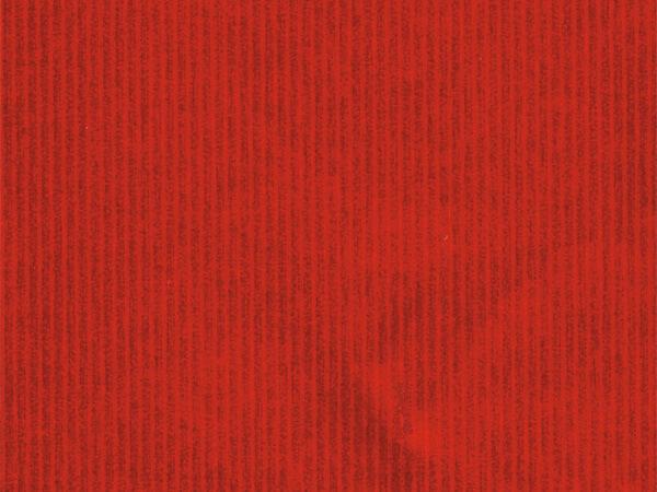 "Red Embossed Pinstripe 30"" x 833' Full Ream Gift Wrap (Foil)"