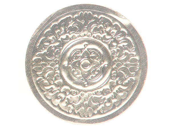"500 Silver Medallion Embossed 1-1/2"" Round Foil Seals"