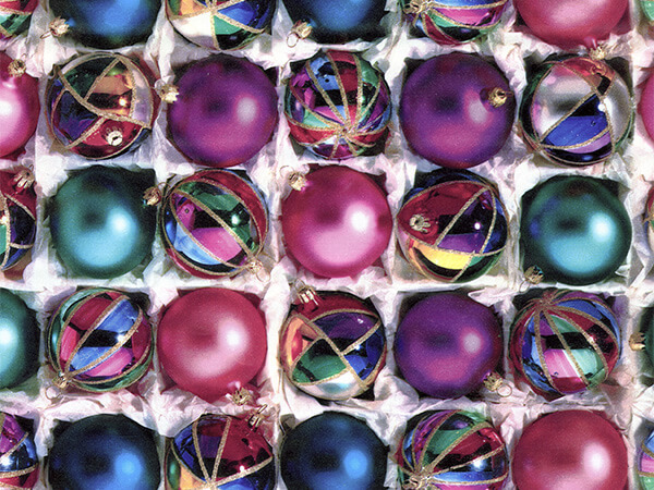 "Nested Ornaments 24"" x 417' Half Ream Roll Gift Wrap"