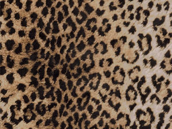 "Leopard Print  30"" x 417' Half Ream Roll Gift Wrap"