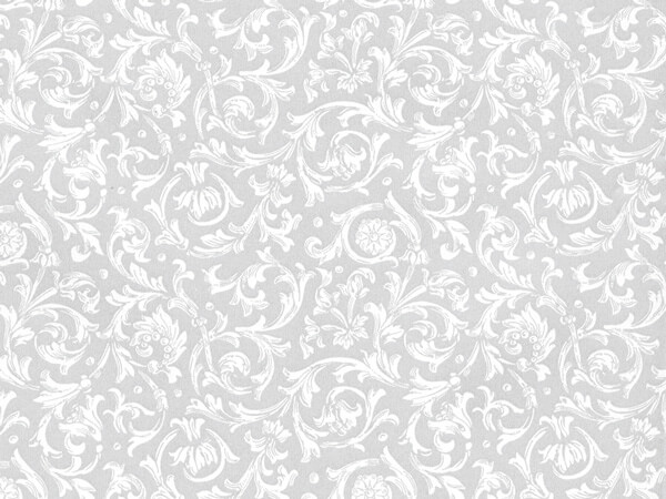 "Wedding Filigree 30"" x 417' Half Ream Roll Gift Wrap"