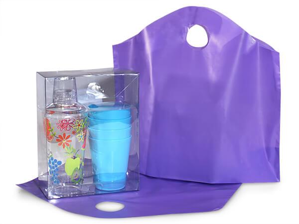 "Purple Wave Top Plastic Bags, Medium18x15x6"", Bulk 250 Pack"