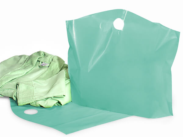 "Aqua Wave Top Reusable Plastic Bag, Large 22x18x8"", 250 Pack, 2.25 mil"