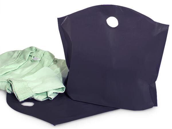 "Black Wave Top Plastic Bags, Large 22x18x8"", 250 Pack, 2.25 mil"