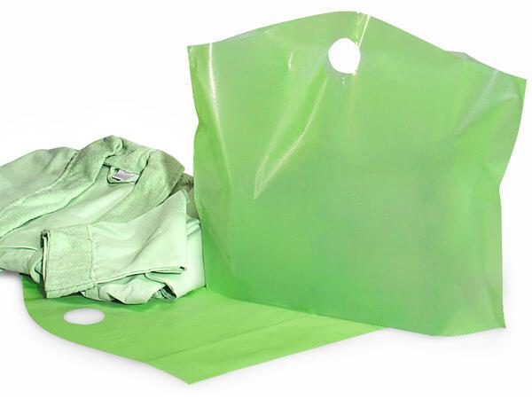 "Citrus Green Wave Top Reusable Bag, Large 22x18x8"", 250 Pack, 2.25 mil"