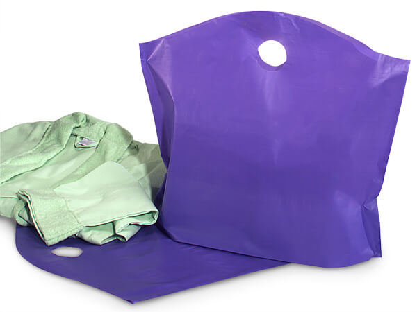 "Purple Wave Top Plastic Bags Large 22x18x8"" 25% Recycled 2.25 mil"