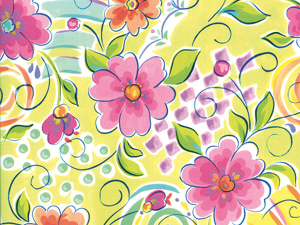 """Fantasy Floral  26"""" x 833' Full Ream Roll Gift Wrap"""