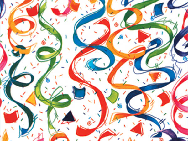 """Party Streamers  24"""" x 833' Full Ream Roll Gift Wrap"""