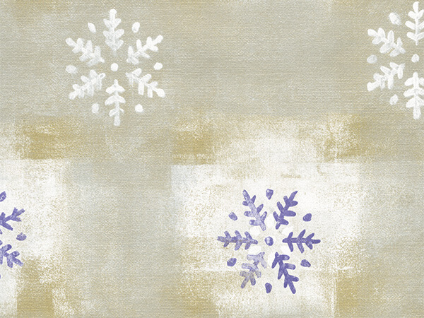 "Purple Snowflakes  30"" x 417' Half Ream Roll Gift Wrap"