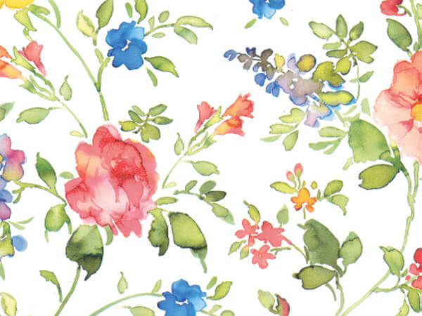 """Watercolor Vines  24"""" x 833' Full Ream Roll Gift Wrap"""
