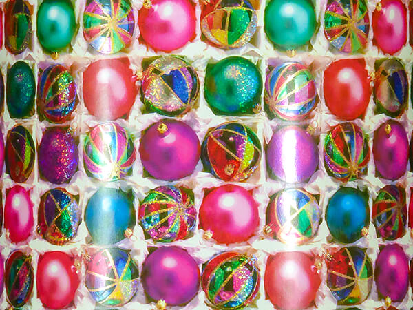 """Holographic Ornaments Wrapping Paper, 30"""" x 417', Half Ream Roll"""