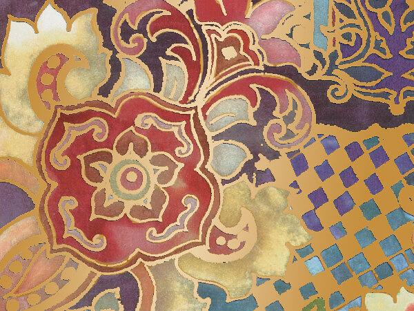 "Oriental Tapestry  26"" x 833' Full Ream Gift Wrap (Metallized)"